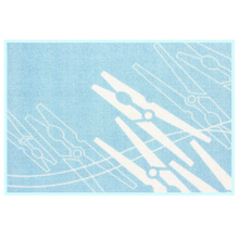 Tapete para Lavanderia Grampos Azul 0,50x0,70m