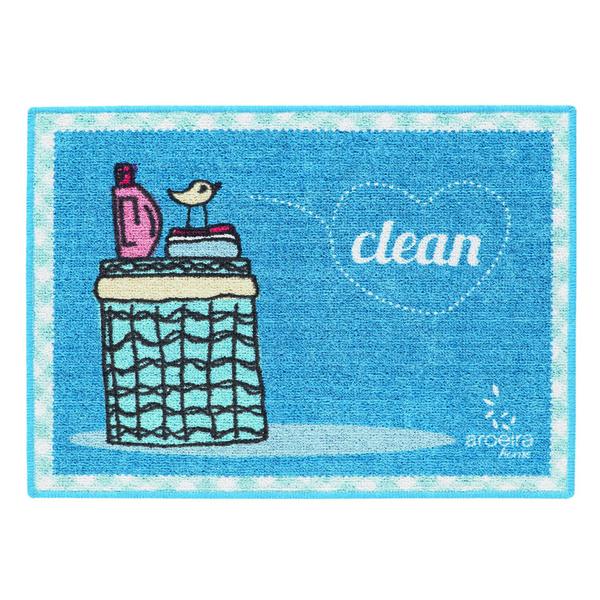 tapete para lavanderia passarinho azul 0 45x0 60m leroy merlin