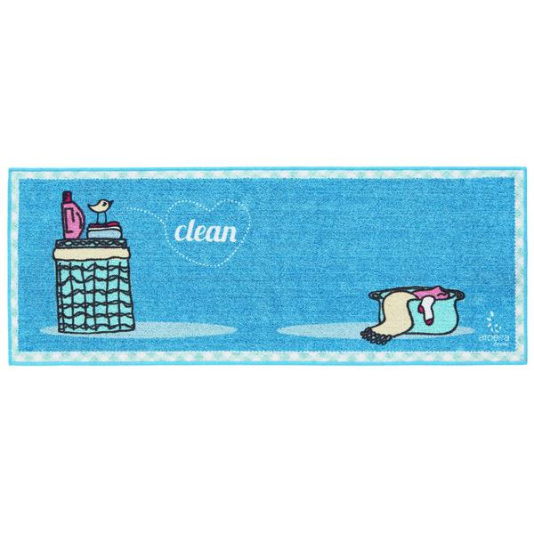 tapete para lavanderia passarinho azul 0 45x1 20m leroy merlin