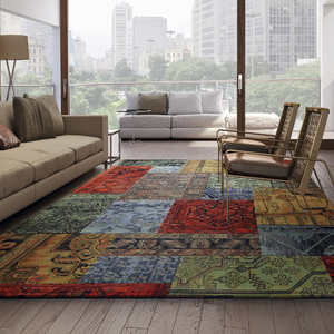 Tapete patchwork fantasia multicolorido 2 00x2 90m leroy for Ecksofa 2 00x2 00