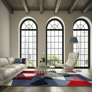 tapete pixel quadros azul e vermelho 2 50x3 50m leroy merlin. Black Bedroom Furniture Sets. Home Design Ideas
