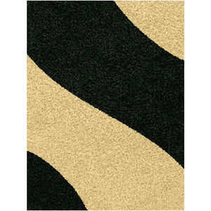 Tapete Polipropileno Mirage Waves Preto J. Serrano 2,00x1,50m