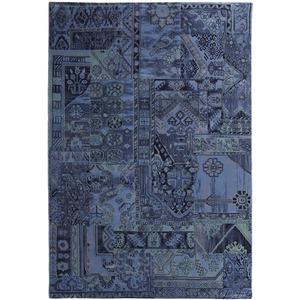Tapete Polipropileno Patchwork Royal Azul São Carlos 3,50x2,50m