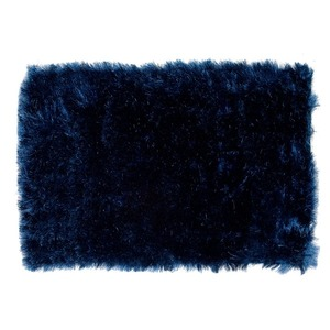 Tapete Polipropileno Shaggy Inspire Azul Importado 0,50x1,00m