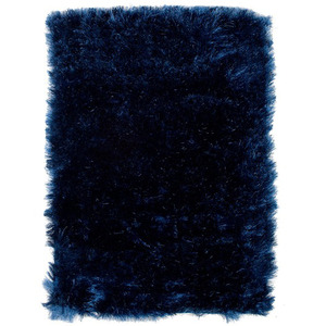 Tapete Polipropileno Shaggy Inspire Azul Importado 3,00x2,00m