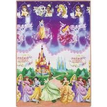 Tapete Recreio Princesas Multicolorido 1,20x1,80m