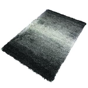 Tapete Shaggy Gradiente Preto e Branco 1,50x2,00m