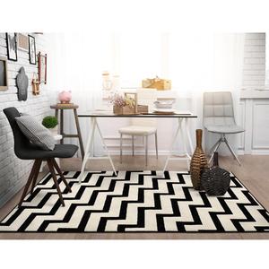 Tapete Tecido Black & White Linhas 1,20x0,66m