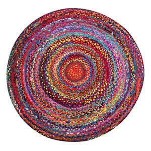 Tapete Trançado Colorido 120cm