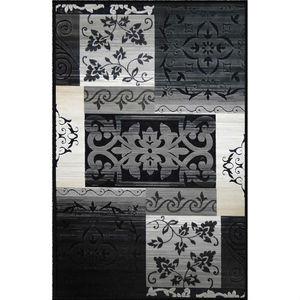Tapete Viscose Tiffany Patchwork Cinza Abdalla 1,40x1,00m