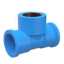 """Tê 90° Azul PVC Água Fria 20mm ou 1/2"""" Plastilit"""