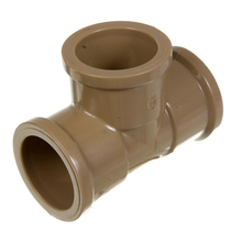 "Tê 90° Marrom PVC Água Fria 20mm ou 1/2"" Plastilit"
