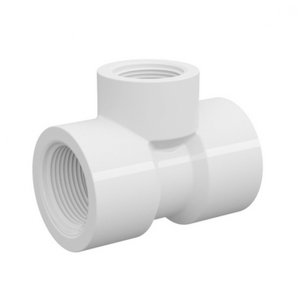 """Tê de Redução Branco PVC Água Fria 50mmx25mm ou 1.1/2""""x3/4"""" Tigre"""