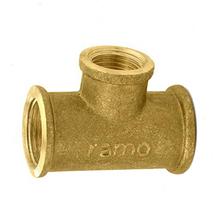 """Tê de Redução Latão Roscável Água Quente e Fria 22mmx15mm ou 3/4""""x1/2"""" Ramo"""
