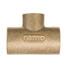 """Tê de Redução Latão Liso Água Quente e Fria 28mmx22mm ou 1""""x3/4"""" Ramo"""
