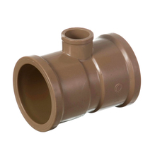 "Tê de Redução Marrom PVC Água Fria 50mmx20mm ou 1.1/2""x1/2"" Plastilit"