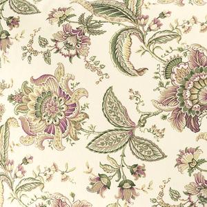 Tecido Kiraz Floral Bege/Verde R50 1,40m Karsten