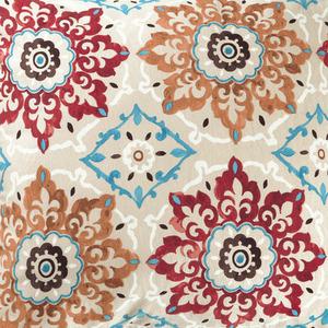 Tecido Suzani Floral Bege/Vermelho R50 1,40m Karsten