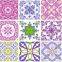 Tecido Adesivo Azulejos Colorido 45x100cm