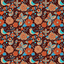 Tecido Adesivo Hippie Chic Colorido 45x300cm