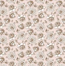 Tecido Adesivo Rosas Rosa 45x300cm