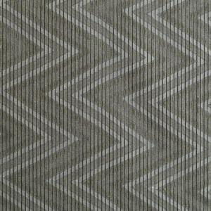 Tecido Geometrico Chevron Voil Cinza 3m