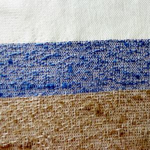 Tecido por Metro Desenho Listra Cru/Azul 2,90m Tapecol