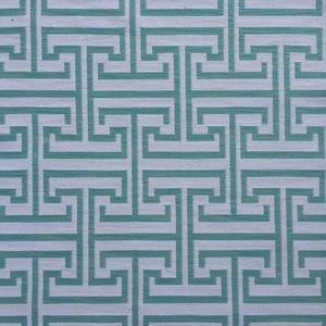 Tecido sob Encomenda Lagoon Jacquard Labirinto Azul