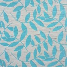 Tecido Sob Encomenda Savana Folhas Jacquard Azul