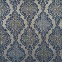 Tecido Sob Encomenda Touche Floral Jacquard Azul