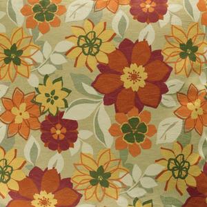 Tecido Verona Floral Vermelho/Amarelo 1,40m Karsten