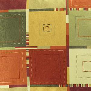 Tecido Verona Quadriculado Vermelho/Amarelo 1,40m Karsten