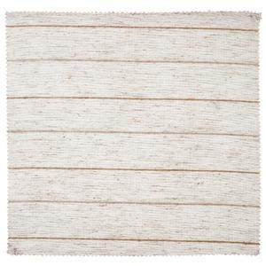 Tecido Voil Linho Listrado Bege/Branco 2,90m Corttex