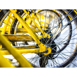 Tela Canvas 30X40 Yellow Bike Inspire