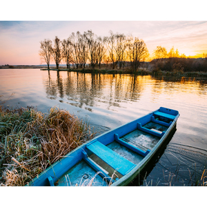 Tela Canvas 40X50 Sunset Boat Inspire