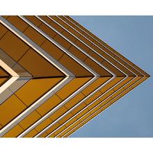 Tela Canvas Geometric Yellow 40x50 Inspire