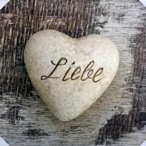 Tela Coração Liebe 30x30cm