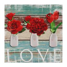 Tela Flor Love 30x30cm