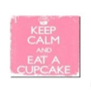 Tela Keep Calm Eat a Cupcake 30x30cm