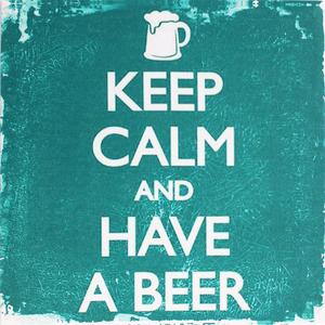 Tela Keep Calm Have a Beer 30x30cm
