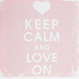 Tela Keep Calm Love On 30x30cm