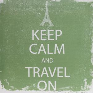 Tela Keep Calm Travel On 30x30cm