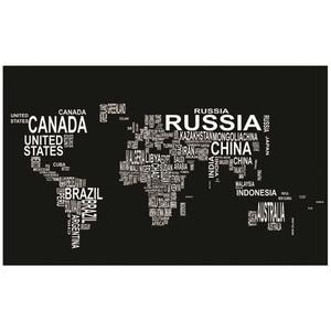Tela Mapa Mundi 80x50cm