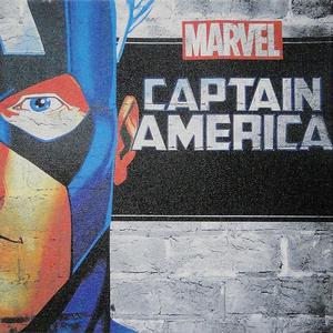 Tela Marvel Capitão América 30x30cm