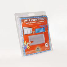 Tela Mosquiteiro Com Velcro Cinza 1,25X2,25m Victoria Reggia