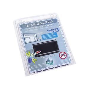 Tela Mosquiteiro com Velcro Preta 0,80x0,80m