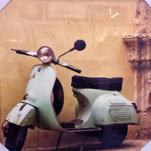 Tela Moto Antiga 30x30cm