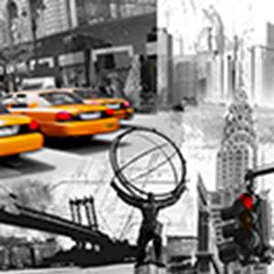 Tela New York Taxi 40x40cm