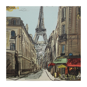 Tela Paisagem Paris 30x30cm
