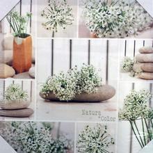Tela Pedras e Flores 30x30cm